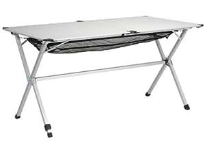Campart Travel TA-0806 - Mesa de aluminio, color blanco
