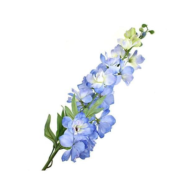 Homeford Tall Silk Delphinium Spray, Blue, 36-Inch (Blue)