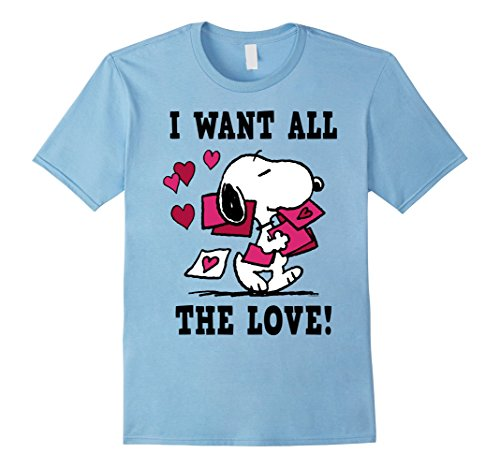 Unisex Snoopy I Want All the Love T-shirt - S to 2XL