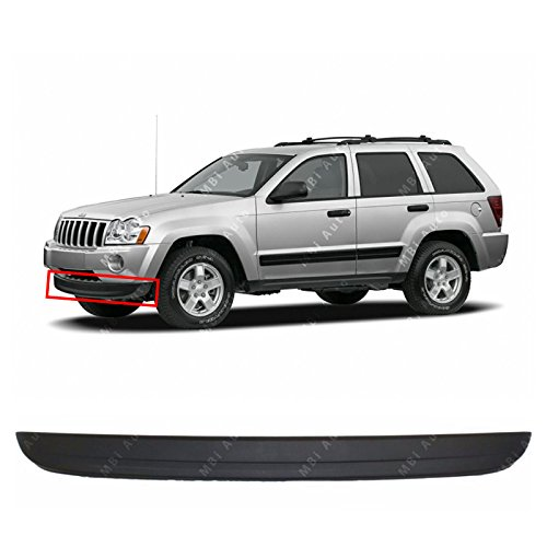 MBI AUTO Textured, Black Front Bumper Lower Air Deflector for 2005 2006 2007 Jeep Grand Cherokee 05 06 07, (Grand Cherokee Air Deflectors)