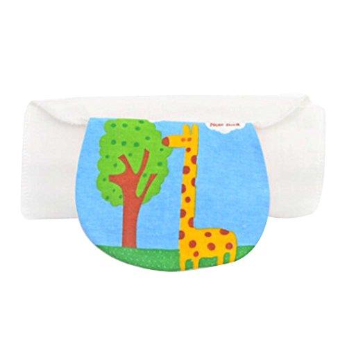 Set of 2 Cotton Baby Sweat Absorbent Towels (Giraffe Pattern, 32x24 cm)
