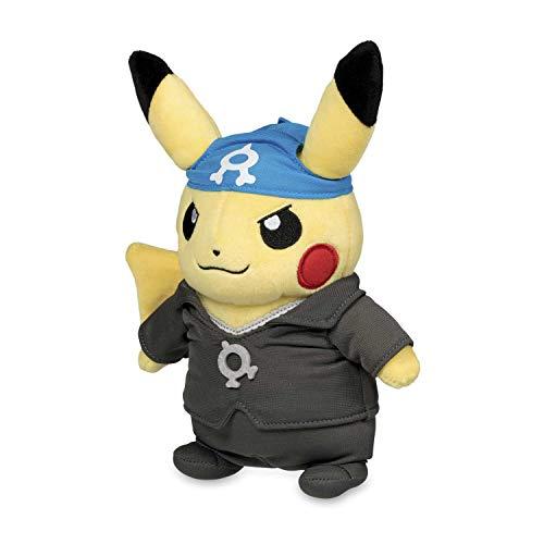 Pikachu Costume Plush (Pokemon Center Original (8.8-Inch) Poke Plush Pikachu Boss Costume (Team Aqua - Archie))