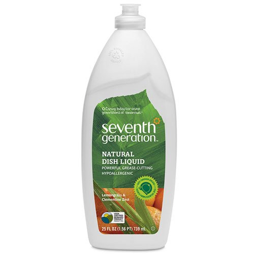 Seventh Generation Natural Liquid Dish Soap - Seventh Generation Dish Liquid - 25 oz - Lemongrass & Clementine Zest - 2 pk