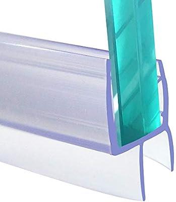 Tira de sellado para mampara de ducha de 6-8 mm de cristal curvado ...