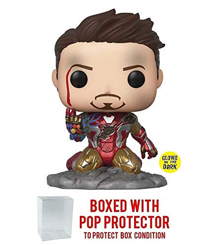 POP! Funko Marvel End Game I Am Iron Man Glow in The Dark Vinyl Figure - PX Exclusive