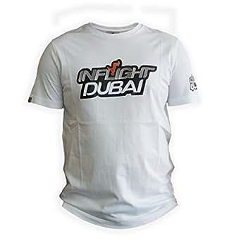 Inflight Dubai White Round Neck T-Shirt For Men