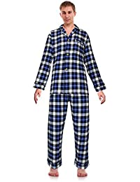 fd7be04913 Classical Sleepwear Men s 100% Cotton Flannel Pajama Set