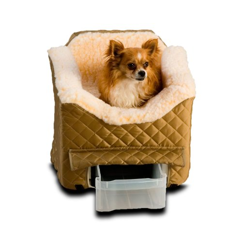 Snoozer Lookout II Pet Car Seat, Small II, - Small Khaki Bed