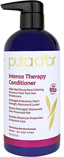 Organics Repair Conditioner (PURA D'OR Intense Hair Repair Therapy Conditioner for Damaged, Distressed, Over-Processed Hair, 16 Fl Oz)