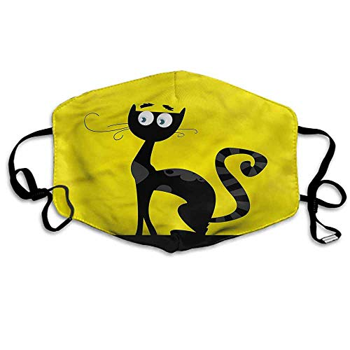 Cat Fashion Mouth Mask Cartoon Style Drawing Halloween for Cycling Camping Travel W4