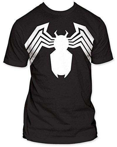 MARVEL SPIDERMAN -- VENOM SUIT -- FITTED JERSEY TEE (M) (Black Spiderman Suit)