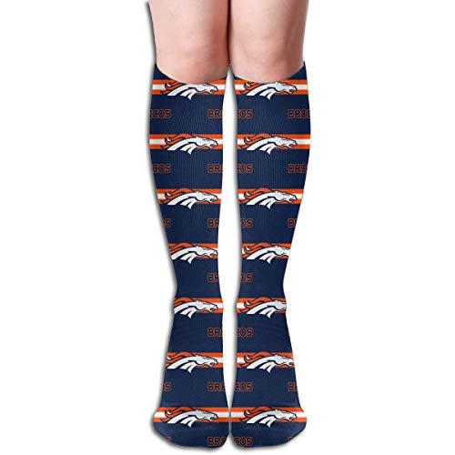 (Sorcerer Custom Patterned Girls Long Sock Denver Broncos Football Team Women's Polyester Cotton Creativity Gift Socking )