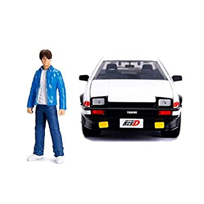 Jada Toyota Trueno (AE86) with Takumi Diecast Figure Initial D First Stage (1998) TV Series Hollywood Rides Series 1/24 Diecast Model Car 99733: Toys & Games