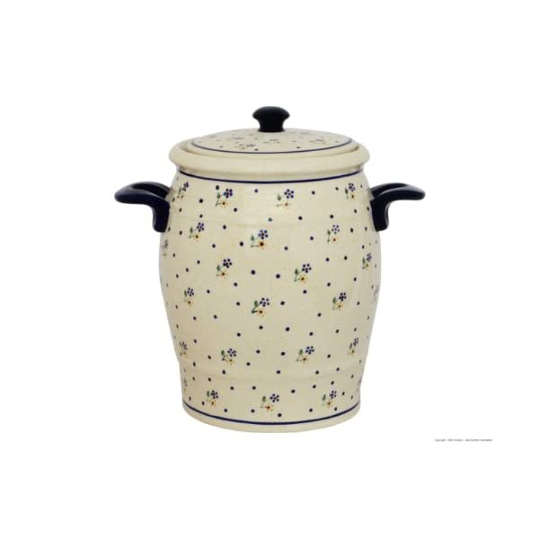 Original Boleslawiec Rum Pot 4,2 Litre – Bunzlauer Multi-Purpose Ceramic Pot Decor 111