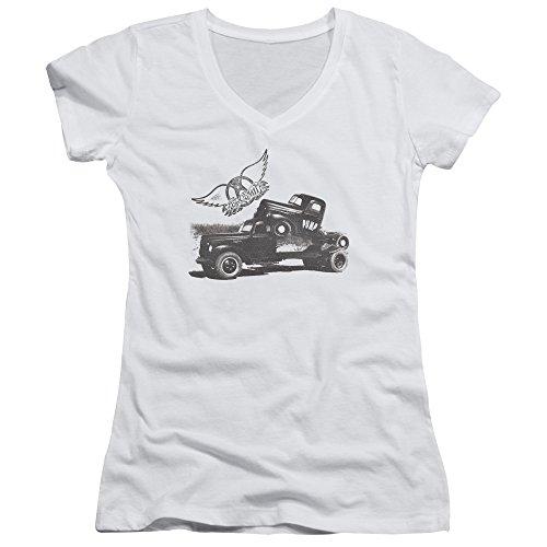 La Femme V Pompe T De Aerosmith Encolure shirt À En White q8PPzpd