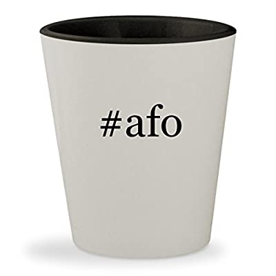 #afo - Hashtag White Outer & Black Inner Ceramic 1.5oz Shot Glass