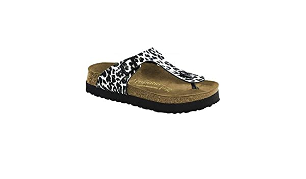 3204becd2a2 Birkenstock Women s Gizeh Platform Leopard Black White Birko-Flor Sandal   Amazon.ca  Shoes   Handbags