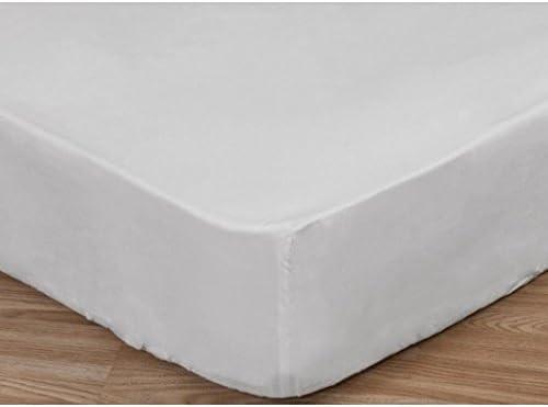 Bertha Hogar Sábana Bajera Ajustable Blanca 50% algodón 50 ...
