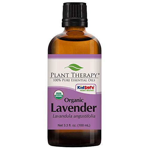 Plant Therapy Lavender Organic Essential Oil | 100% Pure, USDA Certified Organic, Undiluted, Natural Aromatherapy, Therapeutic Grade | 100 milliliter (3.3 ounce)