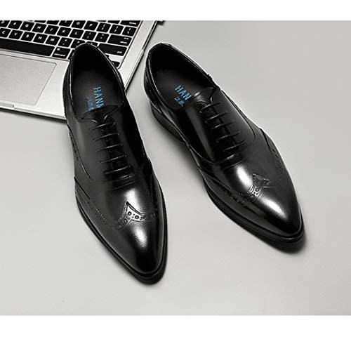 Intagliato Fashion Uomo High Indossare Scarpe Scarpe Uomo Formale A Da Oxford End Fatti Da Black Scarpe Mano Business 77zZvqO