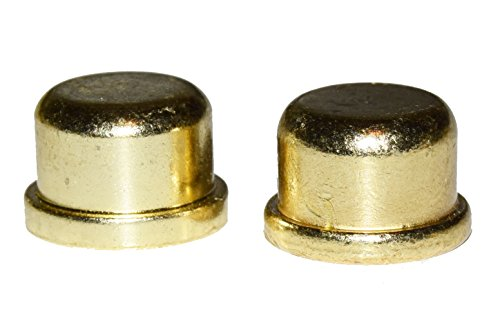 1/2' Brass Plated Die Cast Finial 2-Pack