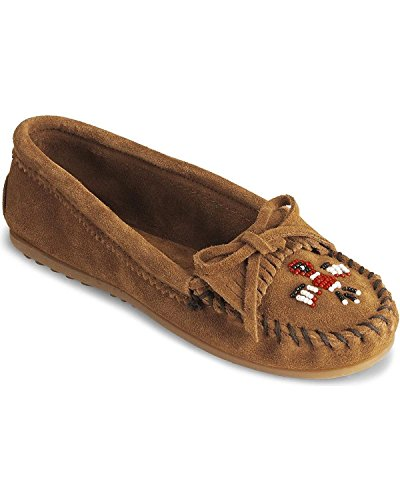 Minnetonka Women's Thunderbird Ii Moccasin Brown 10 US