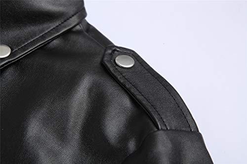 Nera Pelle Xy018 Con Vera Nero Zip Fit Motociclista Incrociata In Uomo Da Urban Retrò Giacca Vintage Slim AwUvUP