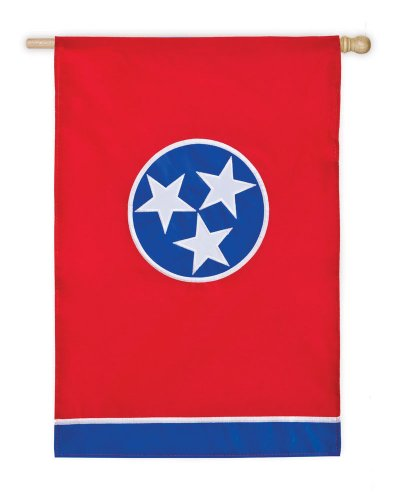 Evergreen Applique Tennessee State House Flag, 29 x 44 inche