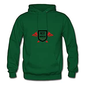 Women Hoody Casual Journalist / Journaliste Designed X-large With Organic Cotton Green
