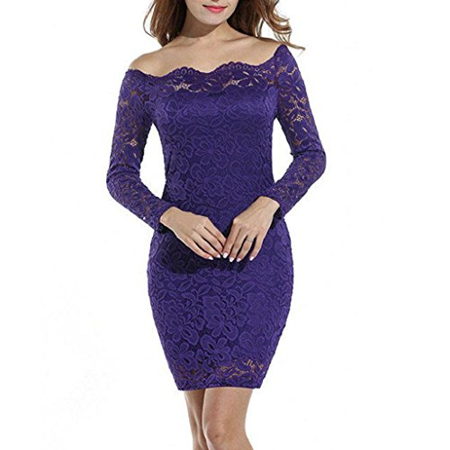 PRIAMS 7 - Vestido - ajustado - para mujer Morado Oscuro
