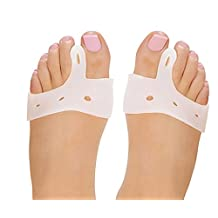 FootMatters Silicone Soft Gel Metatarsal Strap - Medical Grade Silicone - Correct & Protect Ball of Foot & Bunions - Prevent Joint Pain, Callus & Corns, Blisters - 1 pair