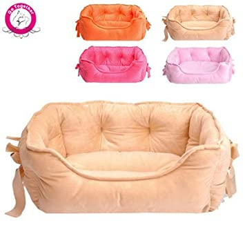 Amazon.com : WeMore(TM) New Design Princess Pet Dog Bed 5 Colors Lovely Bow Small Cat House Soft Short Plush Warm Puppy Kennel Size S Cama Perro : Pet ...