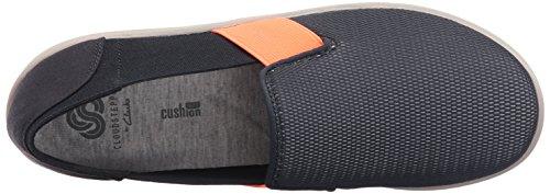 Clarks Womens Sillian Oak Slip-on Loafer, Navy/Coral Mesh Fabric, 10 M US