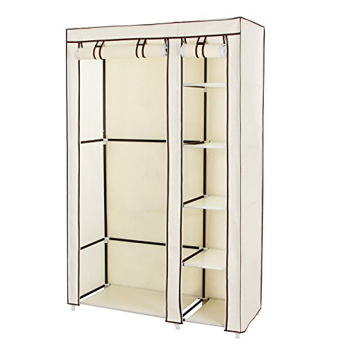 songmics-clothes-closet-portable-wardrobe-storage-organizer-with-shelves-beige-43-ulsf007m
