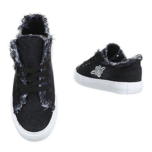 Ital-Design - Zapatillas de casa Mujer Schwarz 7864