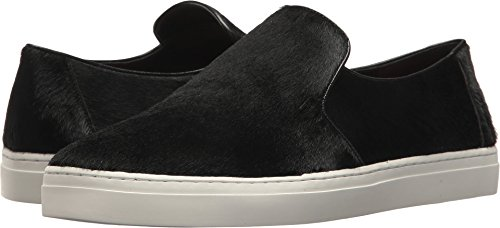 Diane von Furstenberg Women's Budapest Calf Hair Slip-On Sneaker Black 6.5 B US