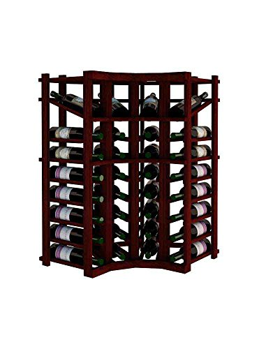 Wine Cellar Innovations Vintner Series Wine Rack - Curved Corner with Display - 3 Ft - Premium Redwood with Classic Mahogany Stain