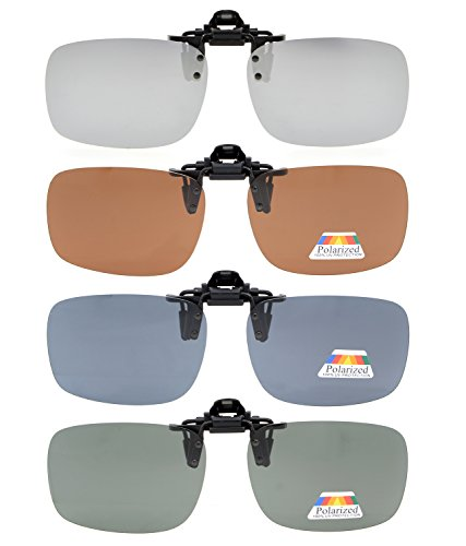 40ae101b8810 Eyekepper Flip-up Clip-on Sunglasses Polarized 2 3 8 x 1 11 16 4 ...
