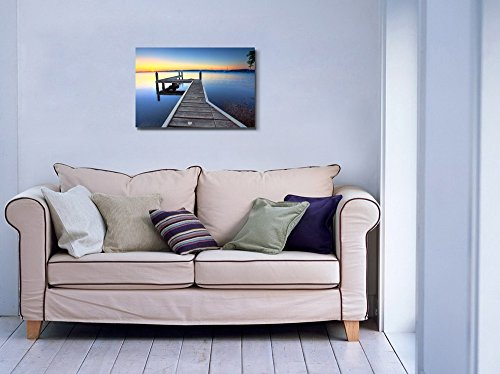 Beautiful Scenery View of Sun Setting on the Horizon at Belmont View from the Jetty Wall Decor