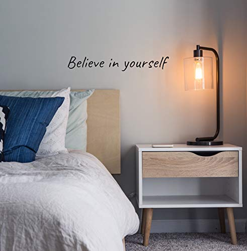 Believe in Yourself – Motivational Wall Decals & Inspirational Art Decor – Vinyl Stickers with Positive Quotes, Sayings, Words and Phrases for Living Room, Kitchen, Bedroom, Gym & Office