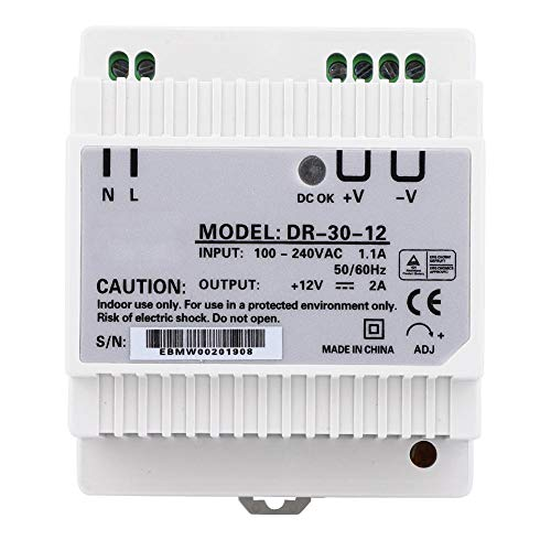 Din Rail AC/DC Power Supply Single Output PWM Control for Industrial Control 100-240V 30W DR-30-12 (DR-30-12)