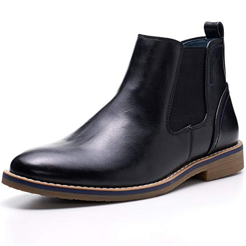 alpine swiss Men's Owen Chelsea Boots Pull Up Ankle Boots