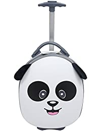 "Kids & Toddler 15"" Carry On Animal Trolley Hardshell Luggage - Lightweight EVA, Dent Proof, Adjustable Handle for Age 2+"