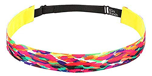 (BaniBands Headbands for Women - Non Slip Adjustable Sports Head Bands - Made in USA - Perfect Headband for Active Women Stays in Place During Workout, Running, Yoga and More - Solar Flare)