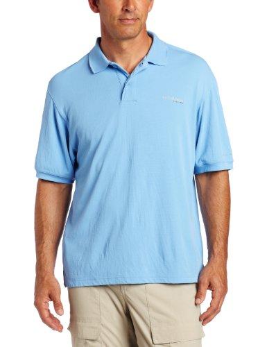 Columbia Men's Skiff Guide Short Sleeve Polo Fishing Shirt (White Cap, X-Large) ()