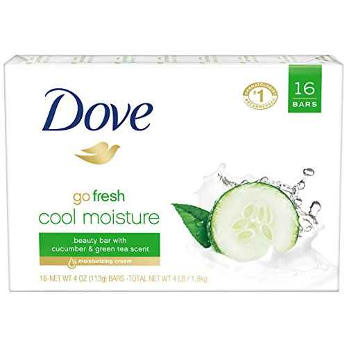 Dove go fresh Beauty Bar, Cucumber and Green Tea 4 oz, 16 Bar