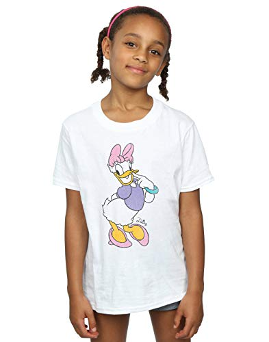 Disney Girls Mickey Mouse Classic Daisy Duck T-Shirt 5-6 Years White
