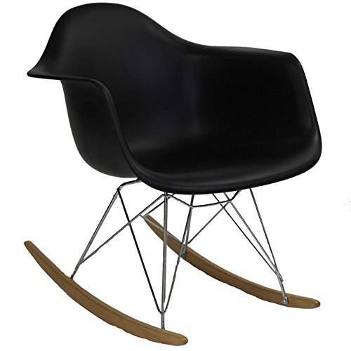 Hawthorne Collections Plastic Rocker in Black by Hawthorne Collections