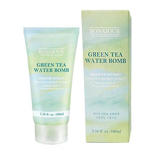What Helps Rosacea. [BONAJOUR]Green Tea Natural Moisturizing Cream for dry and sensitive skin, Best Face Moisturizer 3.38 Fl. oz