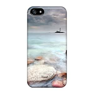 SpencerTompkins-11 Case Cover Skin For Iphone 5/5s (amazing Lighthouse On An Isl Off Shore)